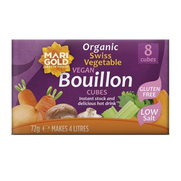 Vegetable Bouillon Swiss Stock Cubes Gluten Free, low salt, Vegan, ORGANIC