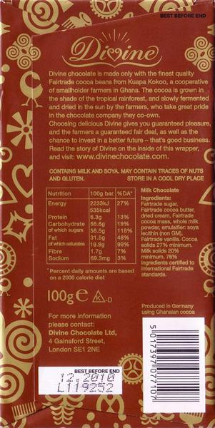 Milk Chocolate FairTrade image 2
