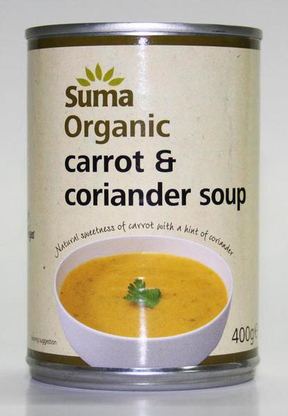 Carrot & Coriander Soup no added sugar, Vegan, ORGANIC