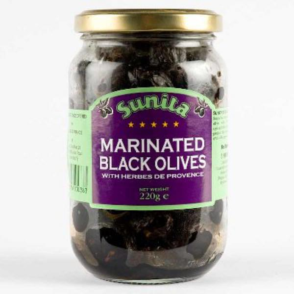 Black Olives Marinated in Herbs