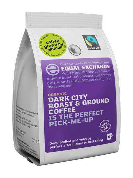 Dark City Roast Ground Coffee FairTrade, ORGANIC
