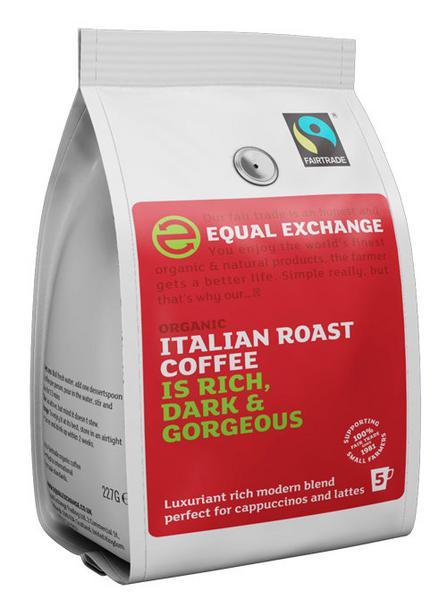 Italian Roast Ground Coffee FairTrade, ORGANIC