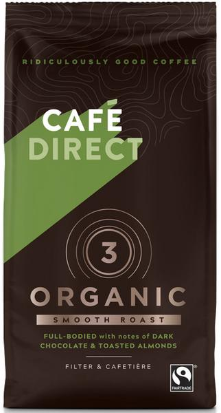 Smooth Roast Organic Ground Coffee FairTrade, ORGANIC