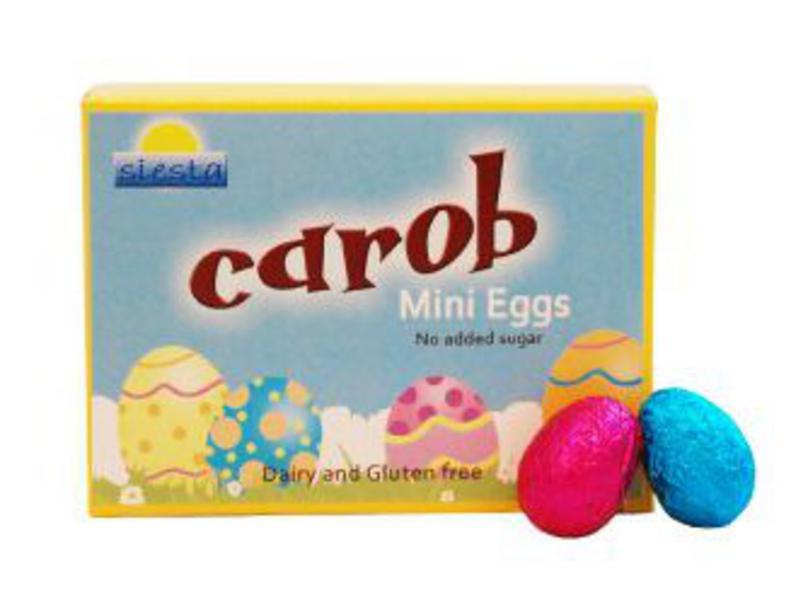 Carob Mini Eggs dairy free, Vegan