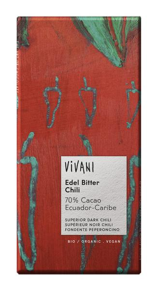 Superior Arriba Dark Chocolate with Chilli Vegan, ORGANIC