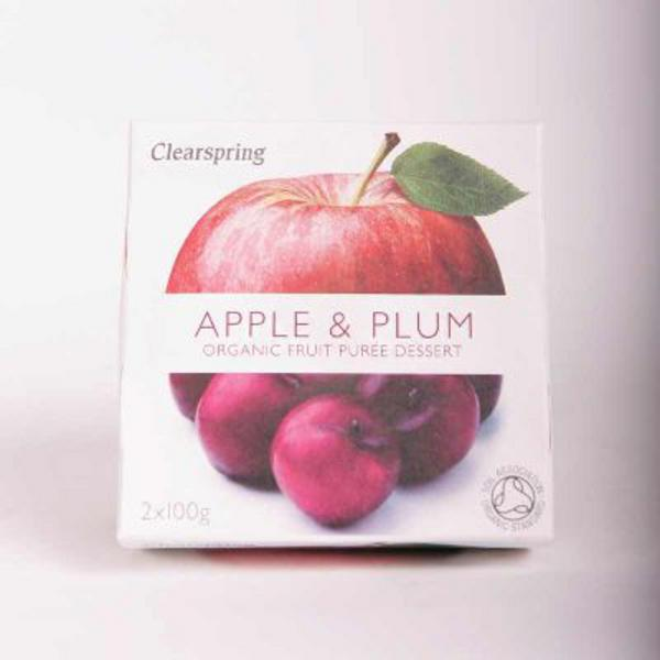 Apple & Plum Puree no added sugar, ORGANIC image 2