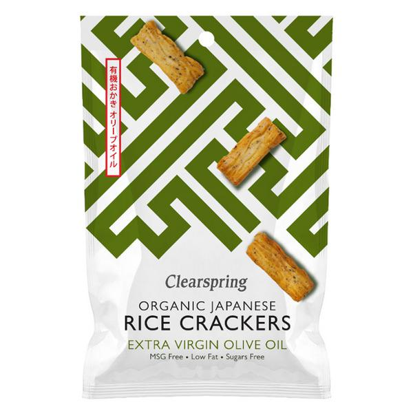 Olive Oil & Salt Rice Crackers wheat free, ORGANIC