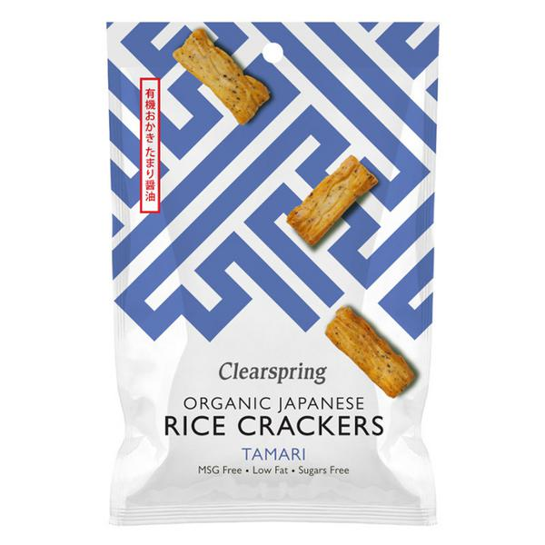 Tamari Rice Crackers no added sugar, wheat free, ORGANIC