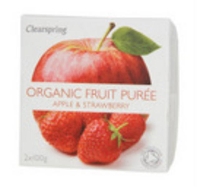 Apple & Strawberry Puree no added sugar, ORGANIC