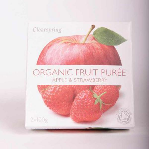Apple & Strawberry Puree no added sugar, ORGANIC image 2