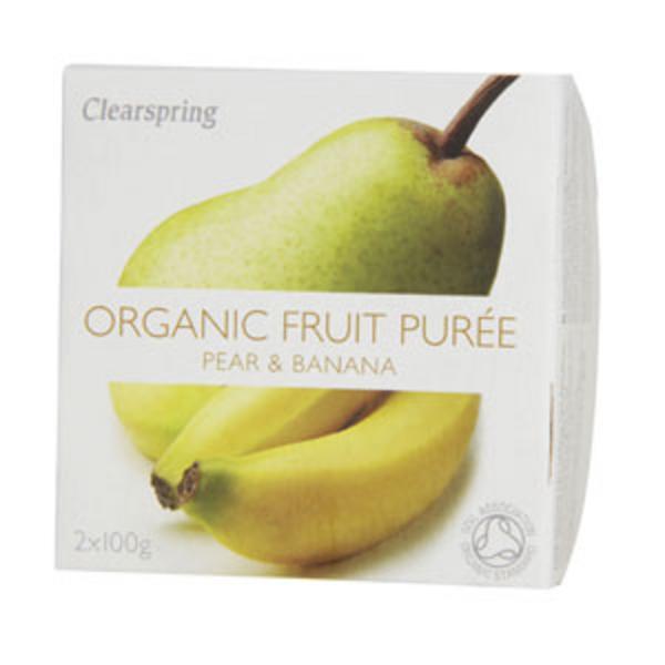 Pear & Banana Puree no added sugar, ORGANIC