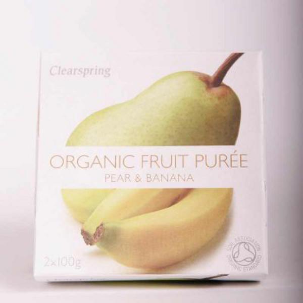 Pear & Banana Puree no added sugar, ORGANIC image 2