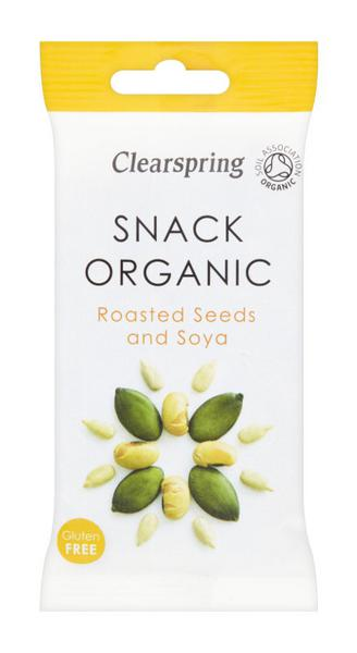 Soya Bean & Seeds Snack Roasted Gluten Free, ORGANIC