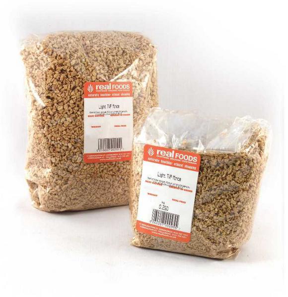 tvp light mince from real foods buy bulk wholesale online. Black Bedroom Furniture Sets. Home Design Ideas