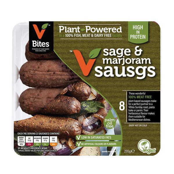 Vegi Deli Sage & Marjoram Vegetarian Sausages Ready to Eat Vegan