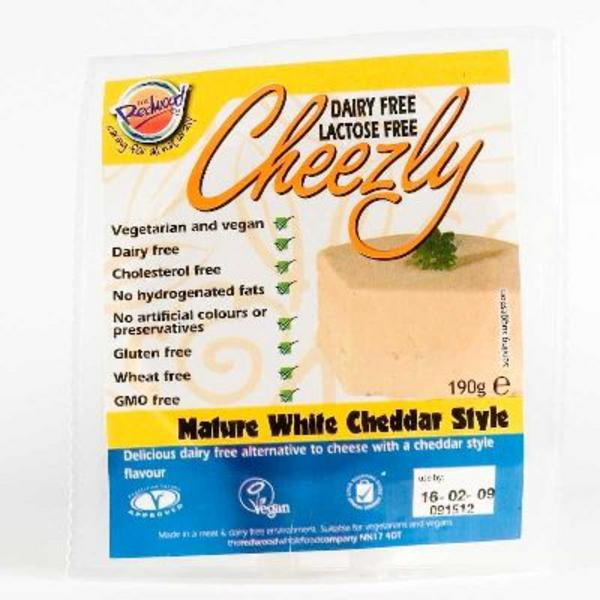 White Cheddar Style Cheezly Dairy Free Cheese dairy free, Vegan