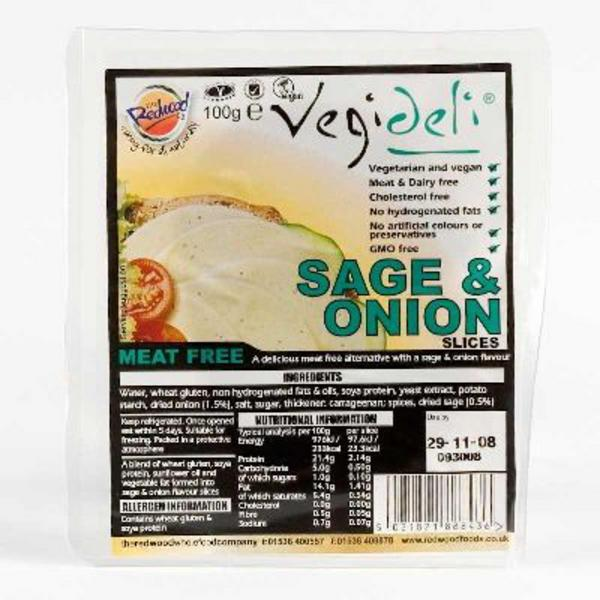 Sage & Onion Slices dairy free, Vegan