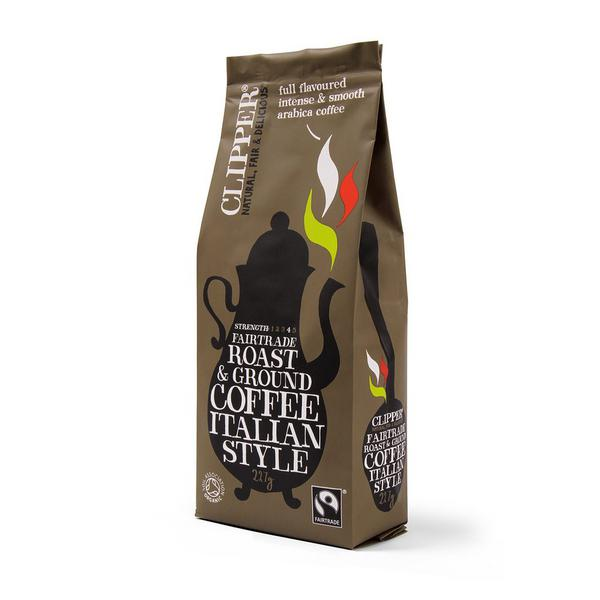 Italian Style Roast & Ground Coffee FairTrade, ORGANIC