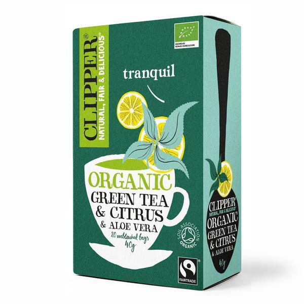 Green Tea With Aloe Vera & Citrus FairTrade, ORGANIC