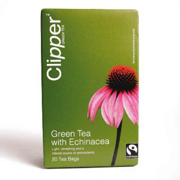 Green Tea & Echinacea T-Bags FairTrade image 2