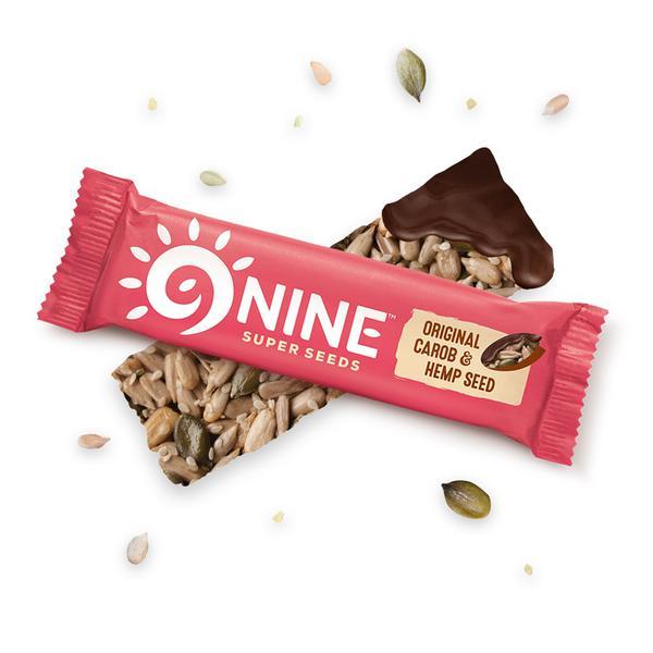 Original Carob & Hemp Seed Snackbar Gluten Free