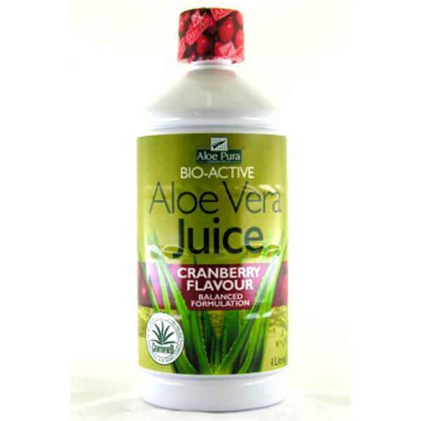 Cranberry Aloe Vera Juice Aloe Pura