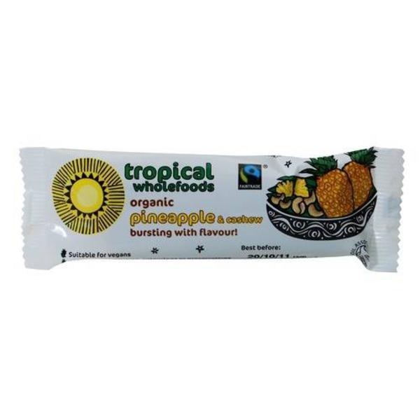 Pineapple & Cashew Snackbar Vegan, FairTrade, ORGANIC