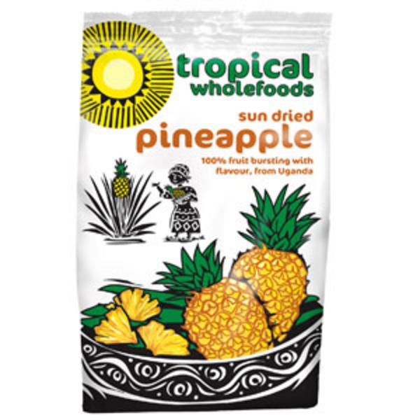 Fairtrade Sun Dried Pineapple In 100g From Tropical Wholefoods