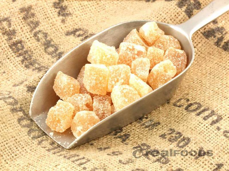 Ginger Crystallised Pieces Raw Cane No Gluten Containing Ingredients