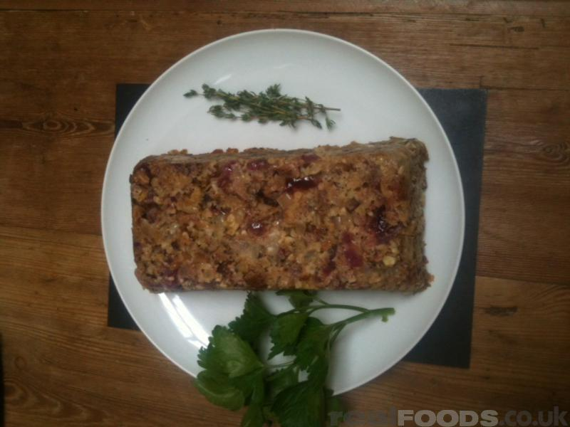 Vegetarian 5 Nuts Roast With Herb Stuffing Recipe