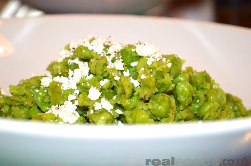 Vegetarian Warm Peas And Feta Salad Recipe