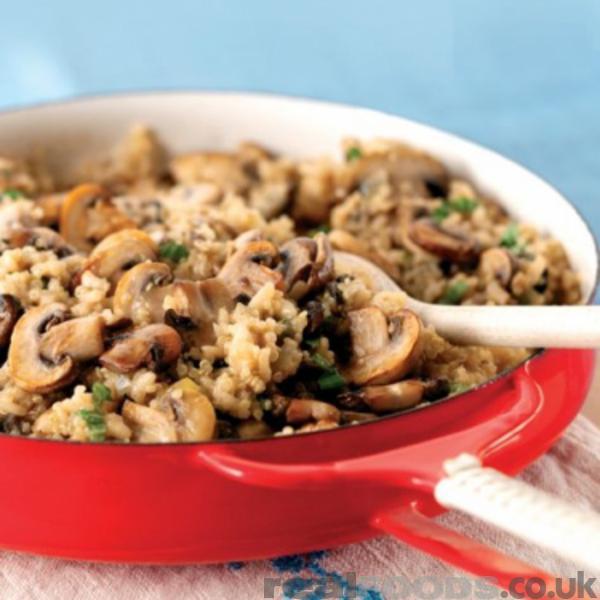 Creamy Quinoa Mushroom Risotto