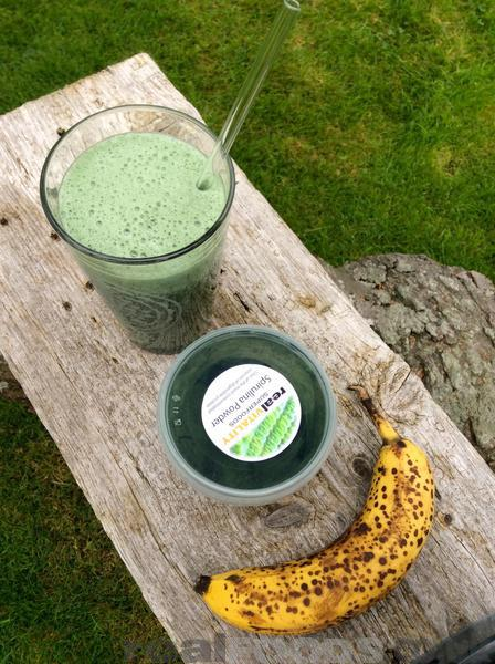 Raw Vegan Alkalising Spirulina Banana Milk Recipe