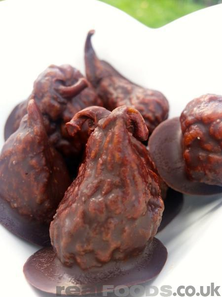 Raw Chocolate Coated Figs Recipe