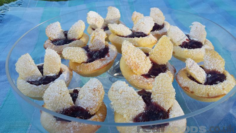 Gluten Free Lemon Butterfly Cakes filled with Tayberry Jam Recipe