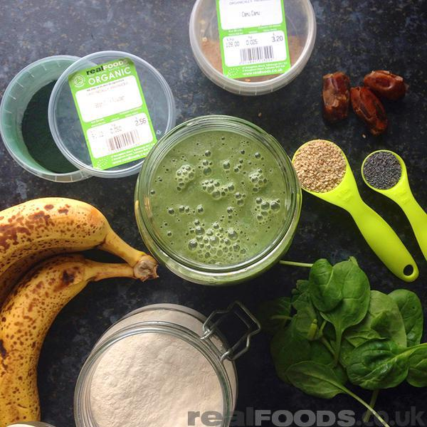 Mineral Rich Raw Vegan Green Sesame Seeds Smoothie Recipe