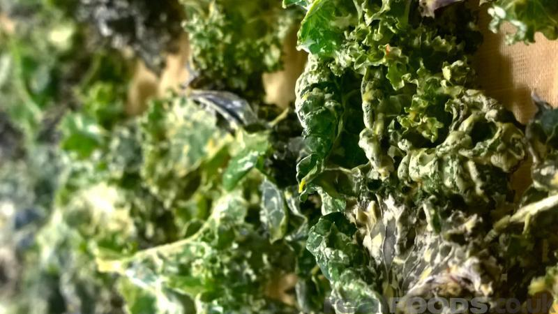 Raw Vegan Cheesy Green Black Red Kale Chips Recipe