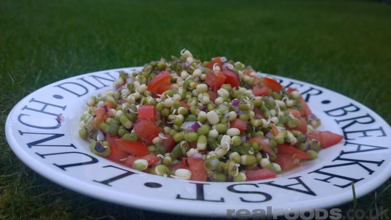 Raw vegan sprouted mung bean salad recipe from real foods raw vegan indian sprouted mung bean salad recipe forumfinder Images