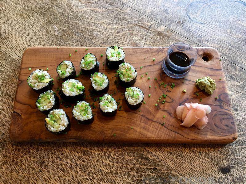 Avocado and Cucumber Sushi Maki Rolls Recipe from Real Foods