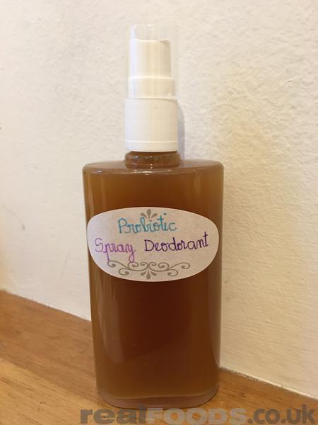 Homemade Natural Probiotic Deodorant Spray Recipe