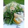 Vegetarian Jersey Royals, Spiced Poached Pears and Roquefort Salad Recipe thumbnail image