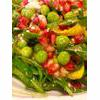 Fresh Yellow Courgette, Pea And Pomegranate Salad Recipe thumbnail image