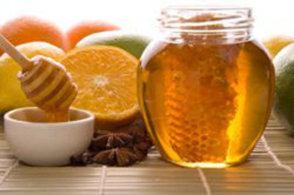 Local honey with citrus fruit