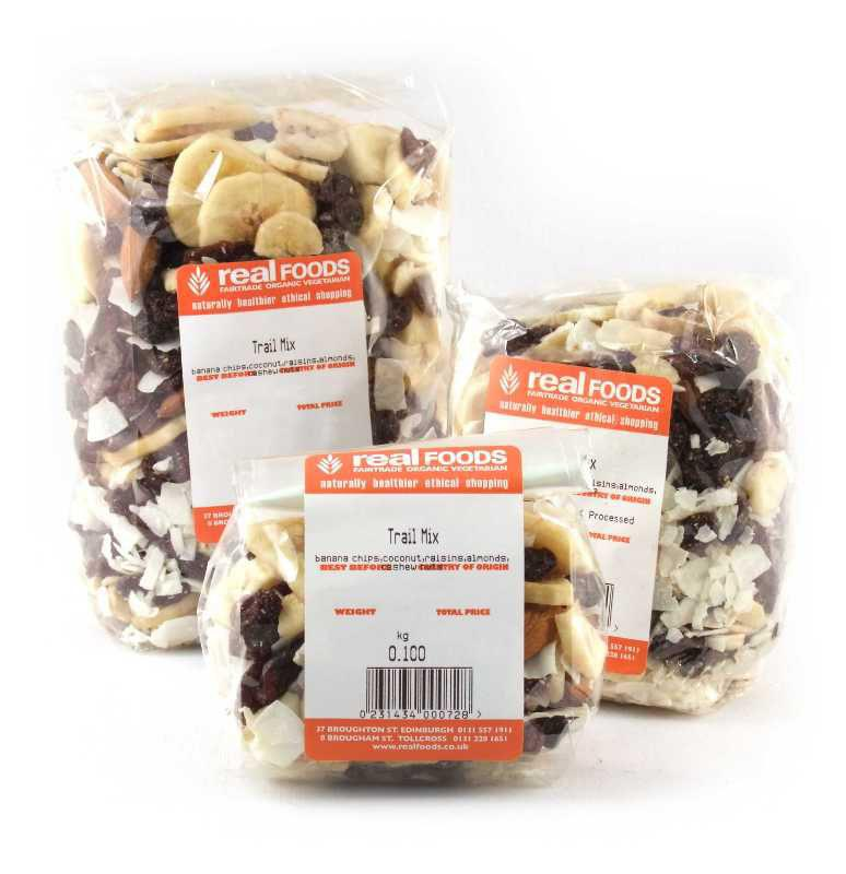 trail mix real foods packets