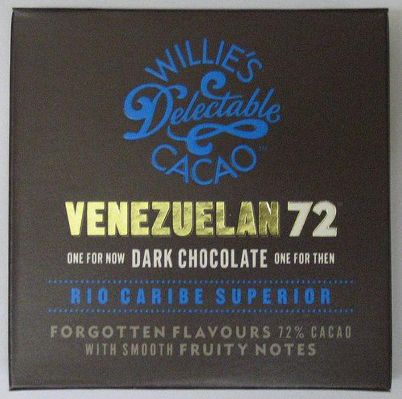 Willies Cacao Venezuelan 72