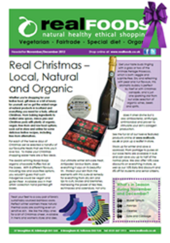 real foods 2012 November December newsletter