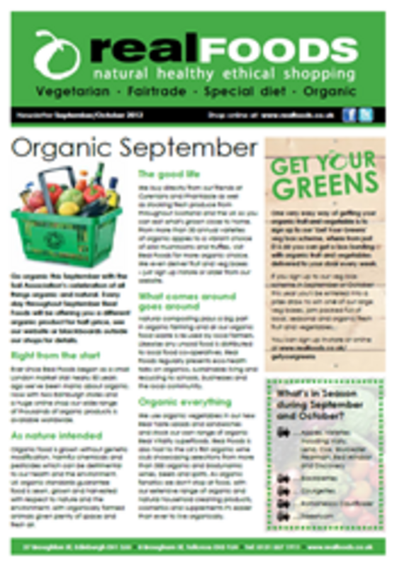 real foods 2012 September October newsletter