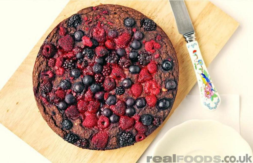 Vegan and Gluten Free Recipe for Forest Fruit Cake