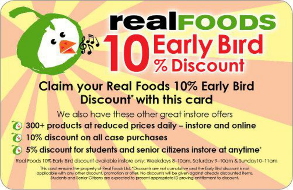 Older-design-Real-Foods-Early Bird-Card