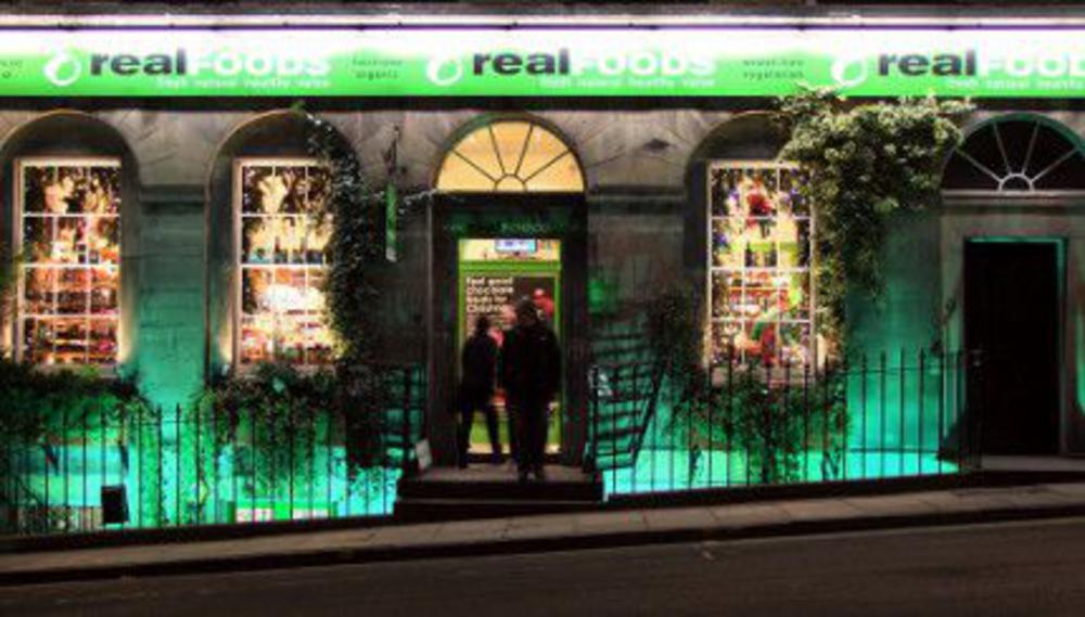 Broughton street shop at night